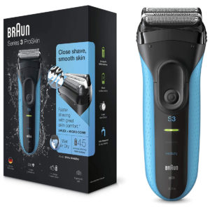 Braun Series 3 ProSkin Wet And Dry Electric Shaver Cordless   And Rechargeable – Black/Blue