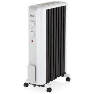 Black & Decker Oil Filled Radiator with Advanced Heat Circulation, 2000 W, White