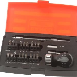 Bahco Stubby Ratchet Screwdriver Set – 22 Pieces