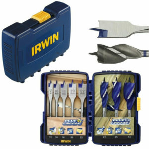 Irwin 4X / 6X-Speed Blue Groove Mixed Bit Sets – 8 Pieces