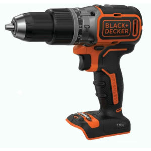 Black & Decker 18 V Cordless Brushless Drill Driver Bare Unit – Black