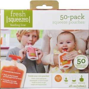 Infantino Squeeze Baby Food Pouches Plastic – 50pcs