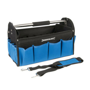 Silverline 400mm Heavy Duty Tool Bag Hard Base Storage