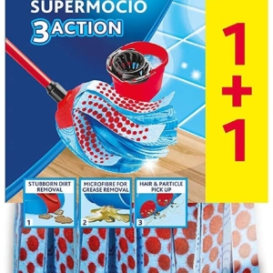 Vileda Supermocio 3Action Xl Refill Twin Pack