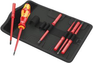 Wera Kraftform VDE Kompakt Screwdriver Set - Interchangable 7 Piece