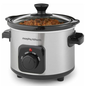 Morphy Richards Ceramic Slow Cooker, 1.5 L, Brushed Stainless Steel