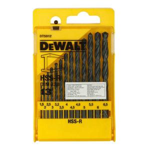 Dewalt HSS-R Jobber Drill Bit Set - 13 Pieces