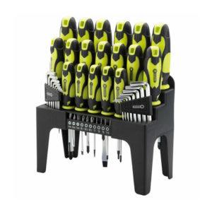 Draper 44 Pc Screwdriver Set With Storage Stand & Allen/Hex Key & Bit Green