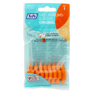 TePe Original Interdental 8 Brushes Pack 0.45 mm – Orange