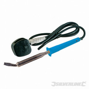 Silverline Soldering Iron 100W Electrical Automotive Angled Chisel