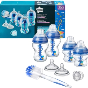 Tommee Tippee Advanced Anti-Colic Newborn Baby Bottle Starter Set – Blue
