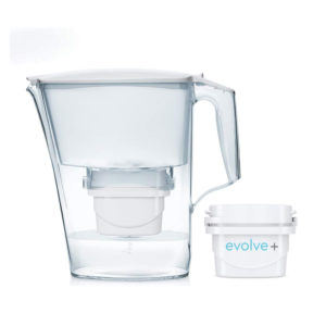 Aqua Optima Liscia Evolve Plus Water Filter Jug 2.5 Litres With 1 x Filter Cartridge – White