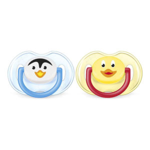 Philips Avent Classic Animal Soothers  BPA Free Silicone – Penguin And A Duck