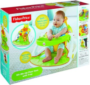 Fisher-Price Giraffe Sit-Me-Up Floor Seat With Tray - Yellow