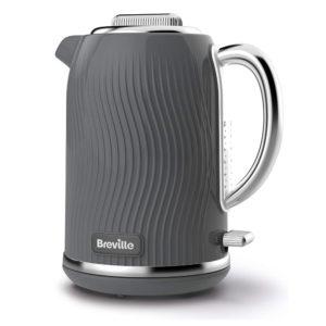 Breville VKT092 Flow Electric Kettle, 1.7 L, 3 KW Fast Boil, Grey