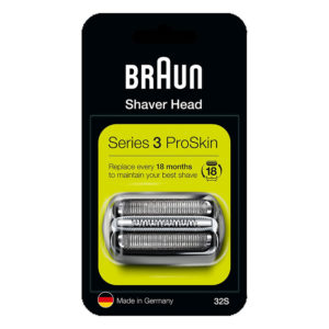Braun Series 3 32S Electric Shaver Head Replacement - Silver