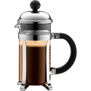 Bodum Chambord 3 Cup French Press Coffee Maker 0.35 Litres - Black/Chrome