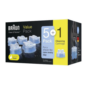 Braun Series Clean & Renew Cartridge Lemon Fresh Formula 170ml Each – Pack of 6