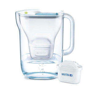 Brita Style Water Filter Jug With MAXTRA+ Filter Cartridges Plastic 2.4 Litres - White Soft Blue