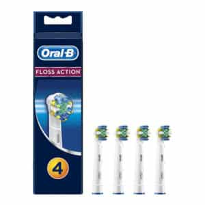 Oral-B FlossAction Replacement Toothbrush Head With CleanMaximiser – Pack of 4