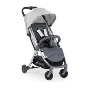 Hauck Swift Plus Lightweight Pushchair, Extra Small Folding, Carrying Strap, Large Basket - Silver Grey