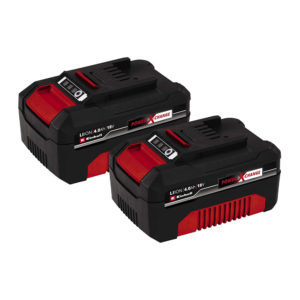 Einhell 18V PXC-Twin Pack 4Ah Batteries in Blister - Red/Black
