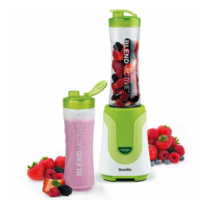 Breville Blend Active Personal Blender And Smoothie Maker With 2 Portable Blending 600ml Bottles 300 W - Green