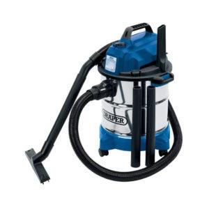 Draper 20L Industrial Wet & Dry Vacuum Cleaner 230V 1250W Stainless Steel