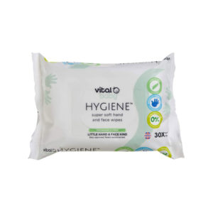 Vital Baby HYGIENE Super Soft Hand & Face 30 Wipes