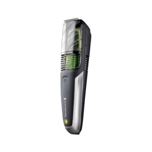 Remington Mens Beard And Stubble Trimmer With Vacuum Chamber To Catch Trimmed Hair – Black/Green