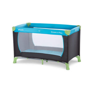 Hauck Dream'n Play Travel Cot With Folding Mattress & Carry Bag In Waterblue