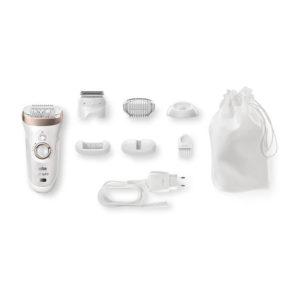 Braun Silk Epil 9 9-561 Wet And Dry Cordless Epilator/Epilation Plus 6 Extras – White
