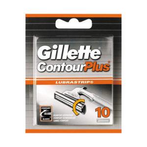 Gillette Contour Plus Cartridges Men's Razor Blades 10 Refills