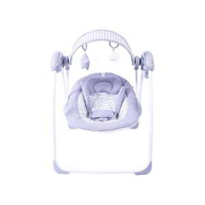 Red Kite Grey Linen Baby Go Round Portable Lullaby Swing With Music