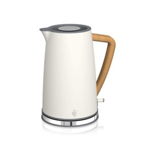 Swan Nordic Rapid Boil Jug Kettle Stainless Steel 3000 W 1.7 Litre – Cotton White