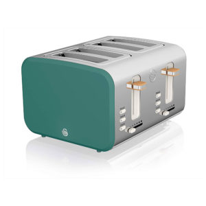 Swan Nordic 4 Slice Toaster Stainless Steel 1500 W – Pine Green