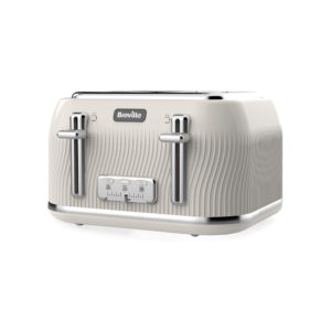 Breville Flow 4-Slice Toaster with High-Lift and Wide Slots, Mushroom Cream