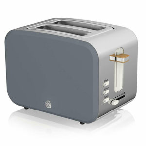 Swan Nordic 2 Slice Toaster With 6 Browning Levels Soft Touch And Matte Finish – Grey