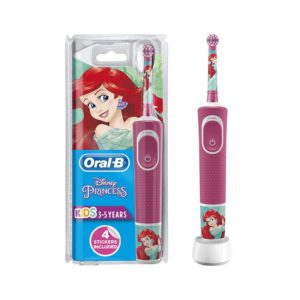 Oral B Stages Power Disney Princesses Characters Kids Electric Rechargeable Toothbrush – Pink