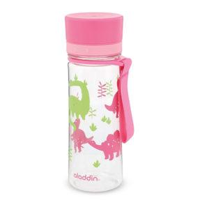 Aladdin My First Aveo Girls Kids Water Bottle Plastic 0.35 Litre – Dino Pink Graphics Print