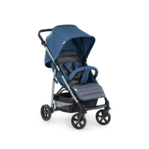 Hauck Rapid 4 Pushchair Compact Folding Height Adjustable Large Wheels with XL Shopping Basket – Denim/Grey