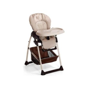Hauck Sit N Relax Grow Along Bouncer Highchair Toddler Seat And Height Adjustable- Zoo Brown Beige
