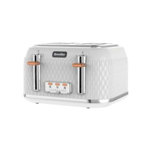 Breville Curve Collection 4 Slice Toaster 1650 W – White And Rose Gold