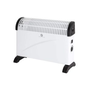 Warmlite Convection Heater Adjustable Thermostat Overheat Protection 3 Heat Settings 2000 W – White